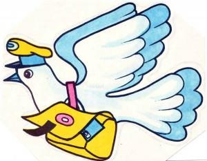 голубь с письмом разворот