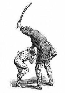 В школах Англии для наказаний использовали розги из веток яблони