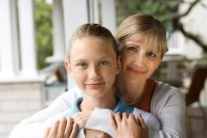 мама и дочка-школьница