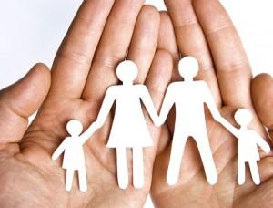 семья мама папа дети